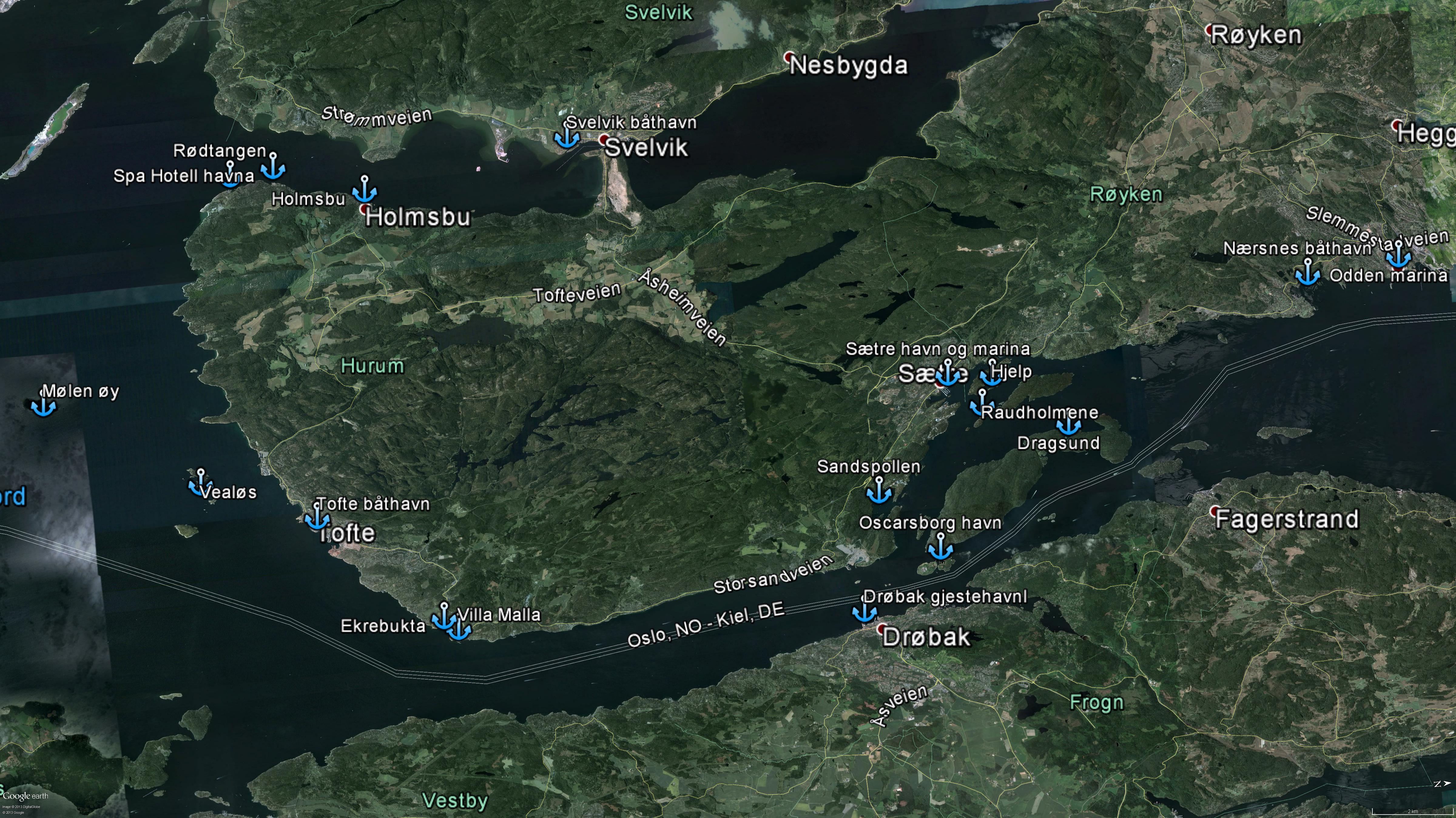 kart over røyken De 101 beste turene  og plassene i Røyken og Hurum |  om deling av  kart over røyken